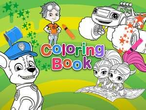 nick jr. coloring book: coloring pages for kids