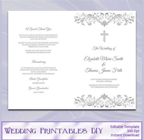 wedding program template word wedding program template 64 free word pdf psd