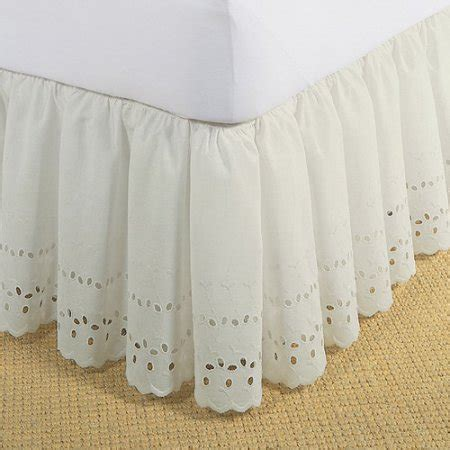 levinsohn eyelet ruffled bedding bed skirt walmart com