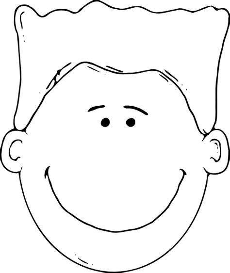 girl face outline clip art boy face outline clip art at clker com vector clip art