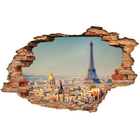 3d Sticker Paris by Wall Decal 3d Effect Paris Cheap Stickers 3d Discount