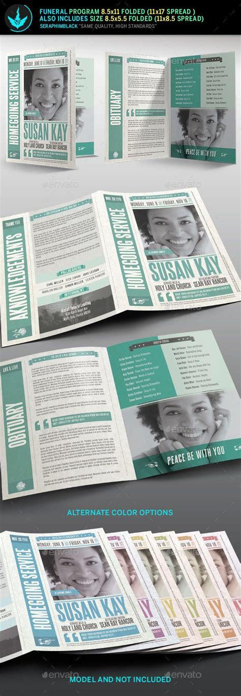 417 Best Images About Best Creative Funeral Program Templates For Photoshop On Pinterest Program Booklet Design Template