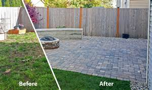 Small Backyard Fire Pit Backyard Transformation In Tumwater Ajb Landscaping Amp Fence