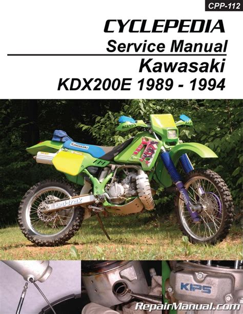 Kawasaki Motorcycle Service by Kawasaki Kdx200e Cyclepedia Printed Motorcycle Service Manual