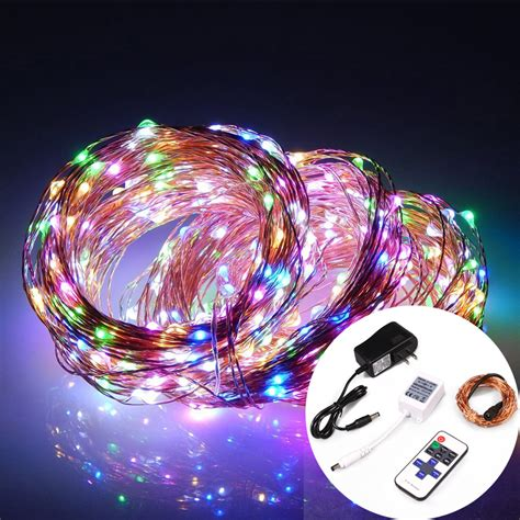 dc powered led christmas lights rgby dc powered led string lights with 11 key remote