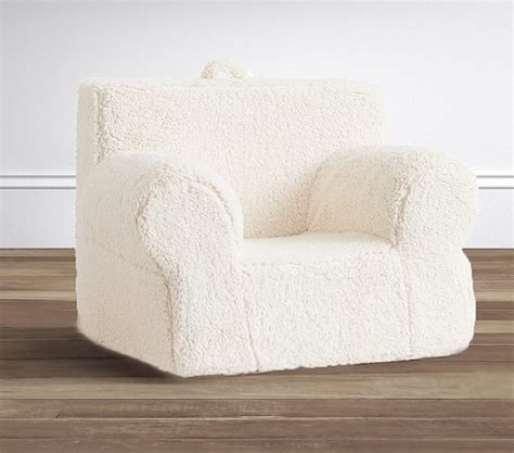 pottery barn oversized anywhere chair slipcover oversized cream sherpa anywhere chair 174 pottery barn kids