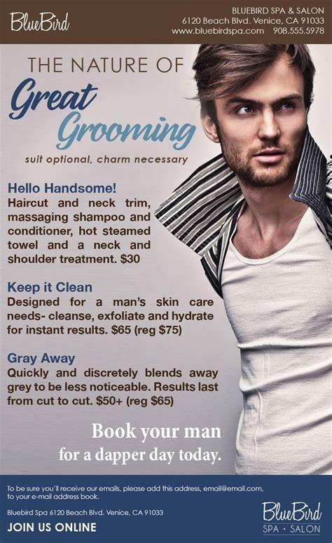 great grooming ready  wear mens salon marketing