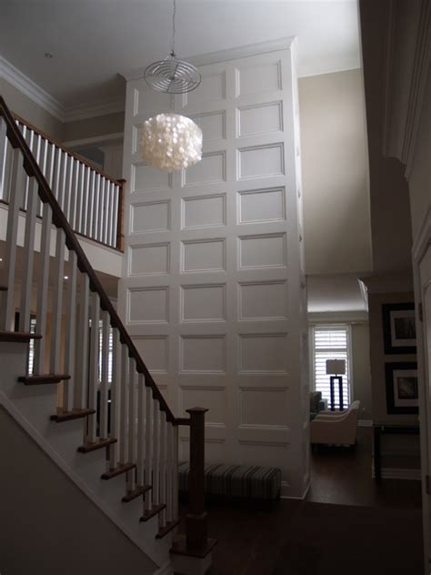 Coffered Walls | feature wall coffered ceiling traditional hall