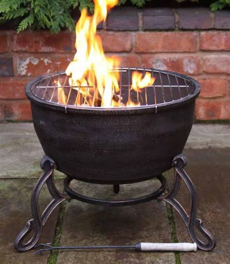 Bbq Firepit Elidir Cast Iron Bowl Bbq Grill In One Patio Heater Pit Cing Cook