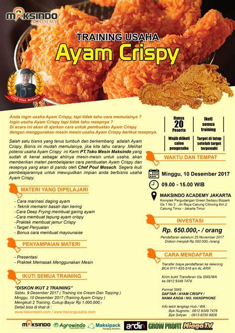 Keranjang Ayam Jogja usaha ayam crispy 10 desember 2017 toko mesin