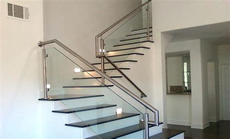 glass stair banisters and railings glass stair railing systems glass railing gallery modern
