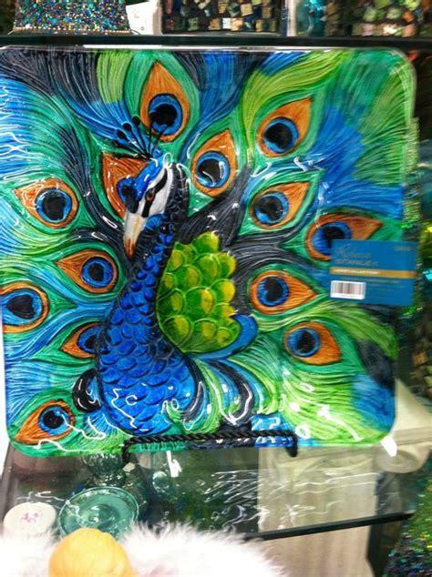 Peacock decorative plate @Hobby Lobby. LOVE THE COLORS