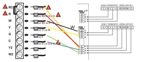 two stage thermostat wiring diagram inside honeywell heat