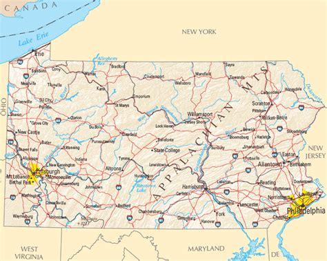western pa map pennsylvania map map of pennsylvania