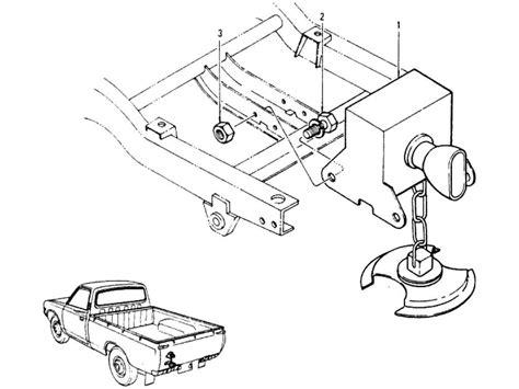 Spare Part Datsun datsun 620 spare wheel hanger