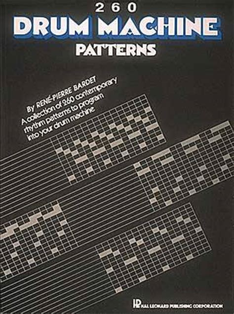 pattern for drum machine 260 drum machine patterns sheet music by rene pierre