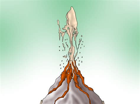How To Make A Paper Volcano Step By Step - how to make a volcano erupt with pictures wikihow