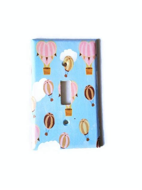 Balloon Nursery Decor Air Balloon Nursery Decor Light Switch Cover Pink