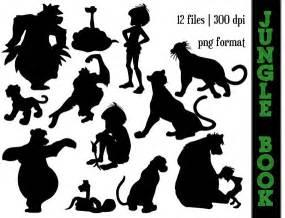 Ariel Wall Stickers the jungle book silhouettes baloo kaa mowgli shere king