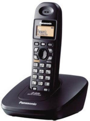 Telephone Wireless Panasonic Kx Tg3711bx Black panasonic kx tg3611sxb cordless landline phone black