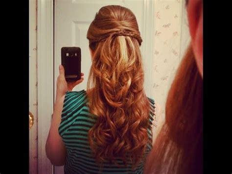 beautiful half up half down hairstyle youtube