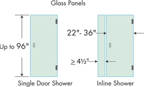 Standard Shower Door Width Single Frameless Shower Doors Dulles Glass And Mirror