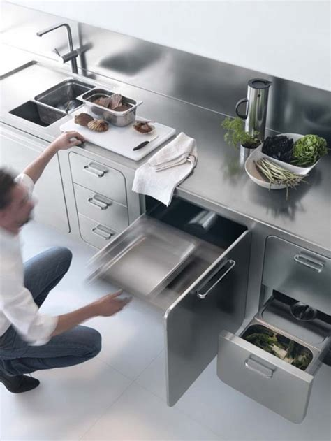 sleek and sumptuous stainless steel kitchen by abimis laconic stainless steel abimis kitchen for home chefs