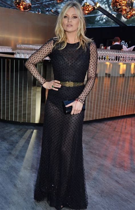 Starry Starry Kate Moss Celebrates Turning 34 by Vogue 100 Gala Best And Worst Dressed Kate Moss Wowed In