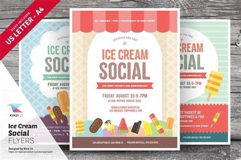 ice cream social flyer templates flyer templates