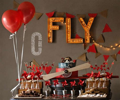 Vintage Airplane Birthday Decorations by Vintage Airplane Birthday Ideas Photo 4 Of 21