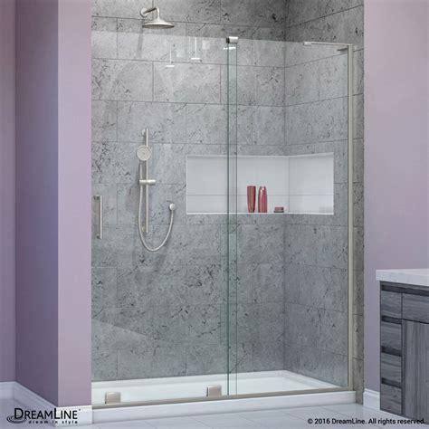 3 8 Glass Shower Door Dreamline 44 Quot 48 Quot X 72 Quot Mirage X 3 8 Quot Glass Frameless Sliding Shower Door Right Ebay