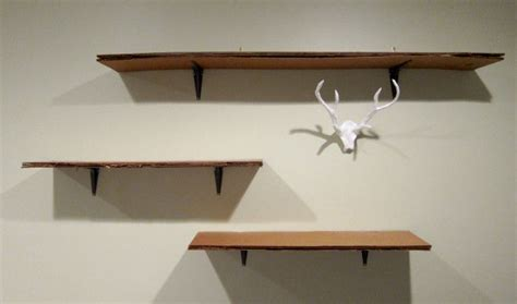 diy cardboard shelves home diy