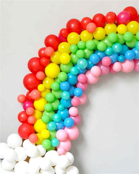 Home Party Decoration by Rainbow Balloon Arch Martha Stewart