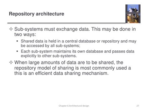 repository pattern advantages and disadvantages ch6 software engineering 9