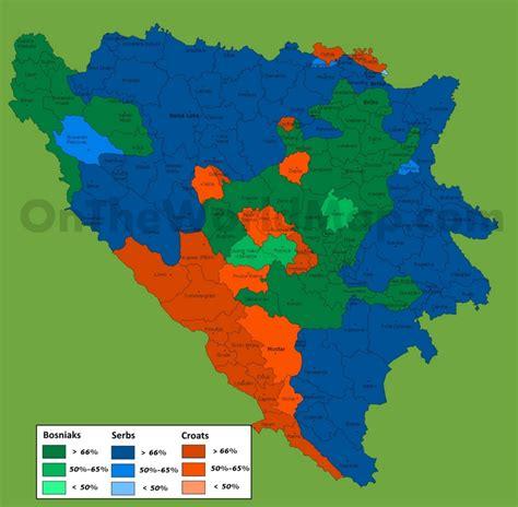 map of bosnia and herzegovina map of ethnic groups in bosnia and herzegovina