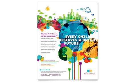 Youth Program Flyer Template Word Publisher Flyer Template Microsoft Publisher
