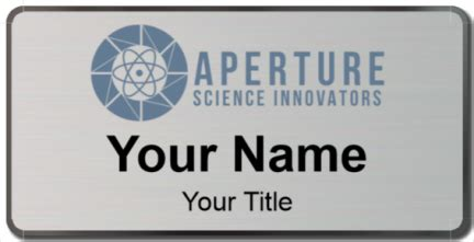 aperture science id card template aperture science name tags namebadge