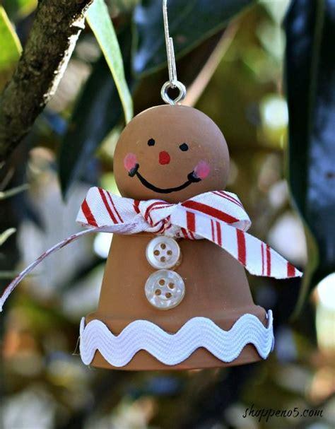 gingerbread man   clay pot navidad christmas