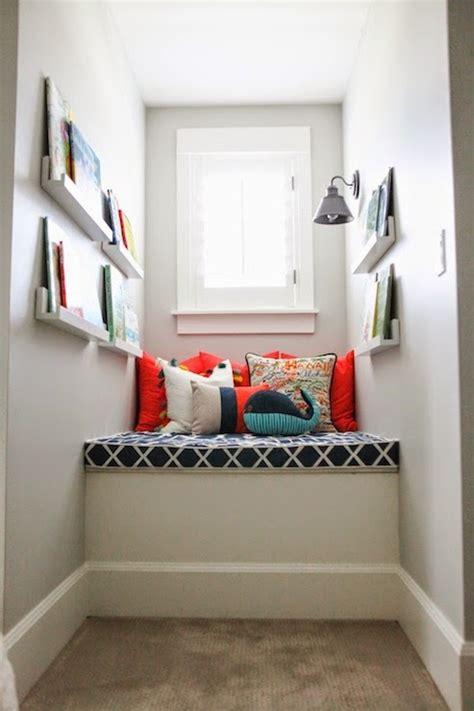 dormer window reading nook transitional boys room