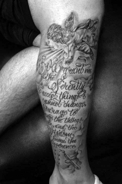 lower leg sleeve tattoo designs 50 serenity prayer designs for uplifting ideas
