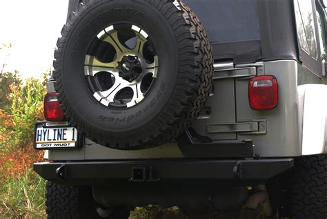 Jeep Wrangler Tire Carrier Jeep Tj Yj Tire Carrier Ready Rear Bumper Hyline Offroad