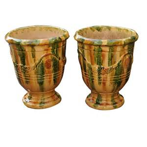 pots for sale a pair of large glazed terracotta pots for sale antiques classifieds