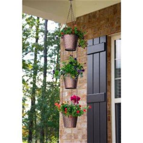 Vertical Planter Home Depot Pennington 7 In Metal Chain Style Vertical Planter