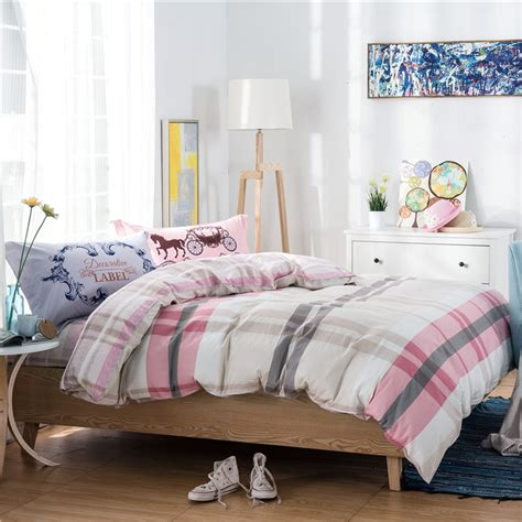 simple comforters online get cheap gray pink bedding aliexpress com