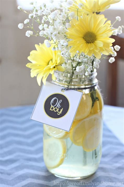 Simple Decorations For Baby Shower by Gray Yellow Baby Shower Decorating Ideas Of