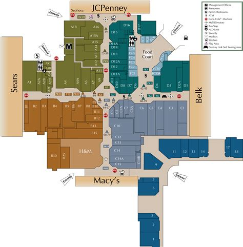 layout of valley view mall mall directory cross creek mall