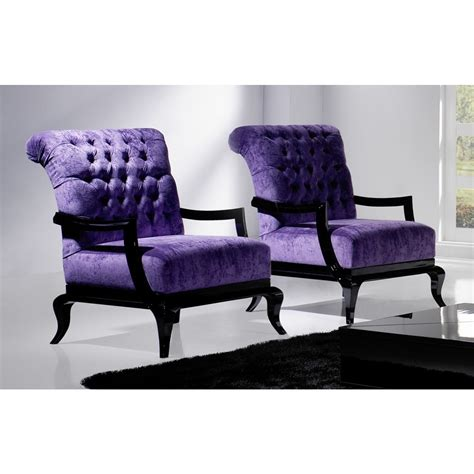 Purple Armchairs by Tufted Purple And Black Frame Regal Armchair