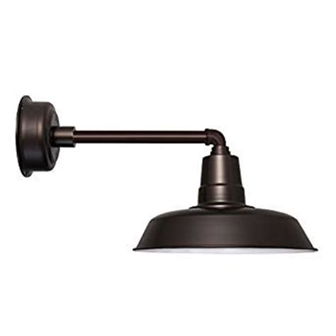 Outdoor Gooseneck Light Fixtures Cocoweb 14 Inch Oldage Mahogany Bronze Led Gooseneck Barn Light Fixture Dimmable Indoor