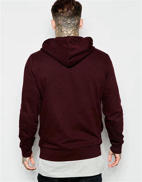 Sweater Pusple Maroon Lt Babyterry Maroon lyst asos hoodie in burgundy burgundy in purple for