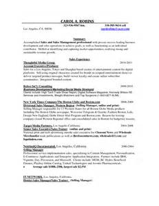 Advertising Agency Sle Resume by Recruitment Agencies For Sales Resume Sales Sales